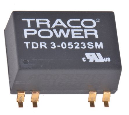 TRACOPOWER TDR 3SM 3W Isolated DC-DC Converter Surface Mount, Voltage in 4.5 → 9 V dc, Voltage out ±15V dc
