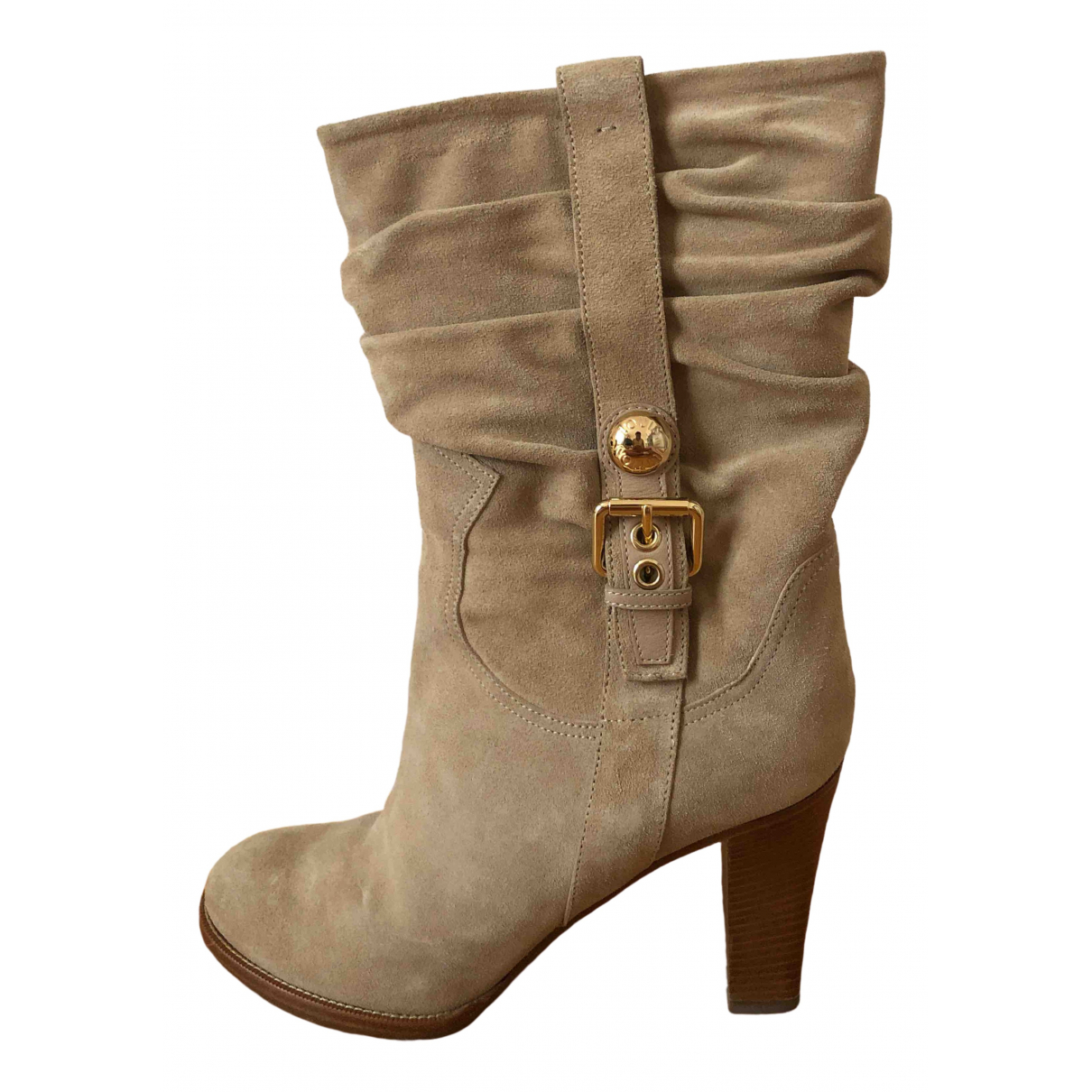 Louis Vuitton \N Beige Suede Boots for Women 38.5 EU