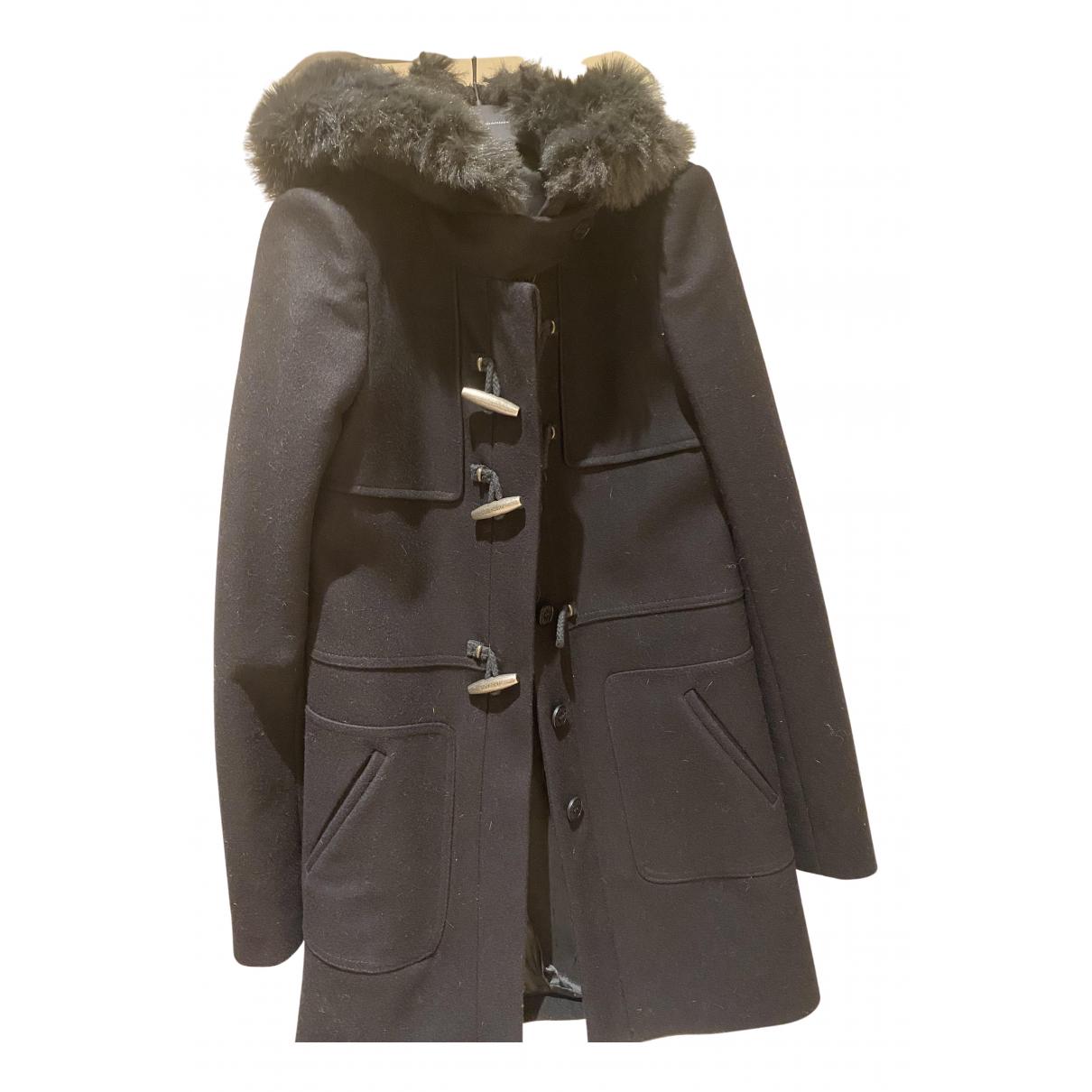 Patrizia Pepe N Black Wool coat for Women 42 IT