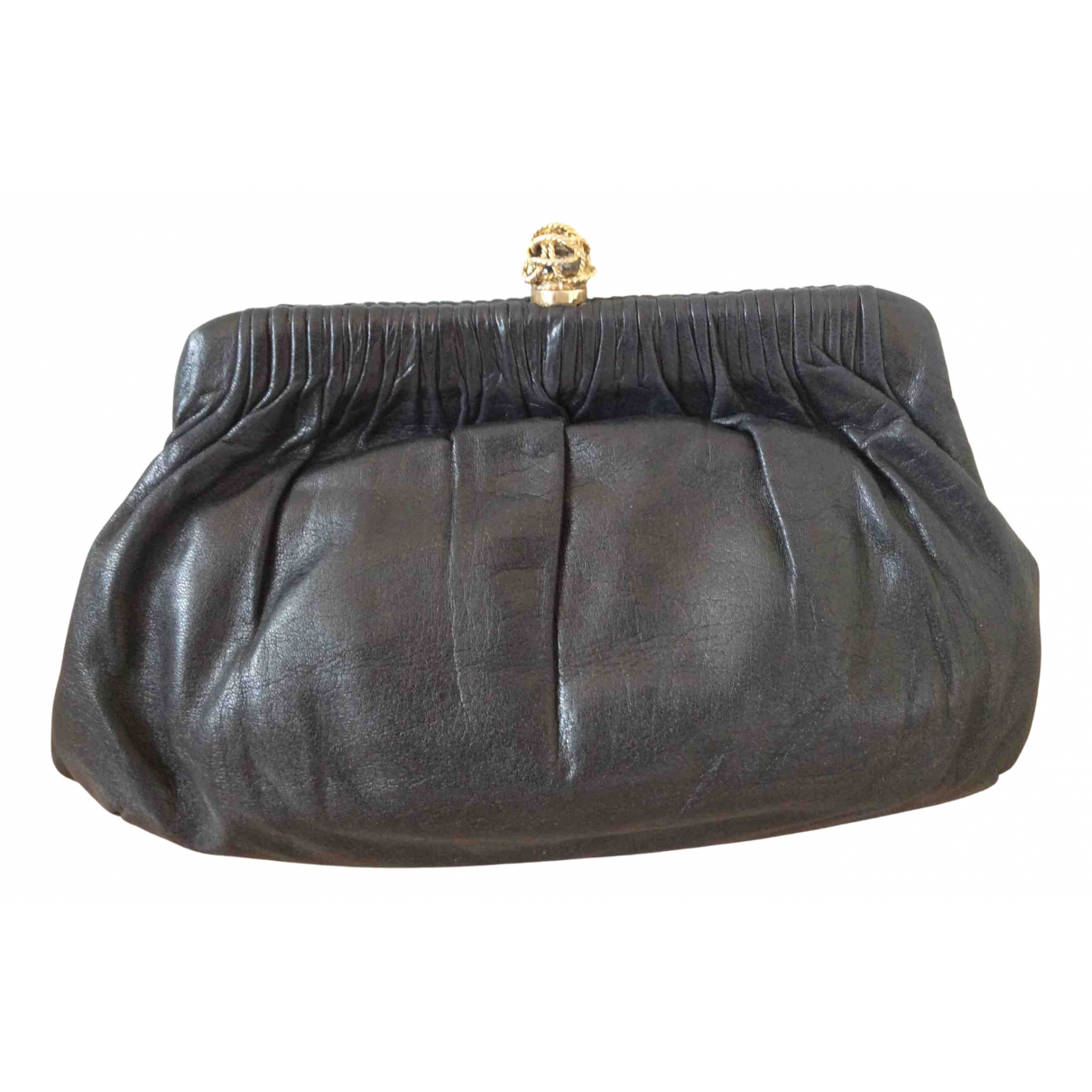 Non Signé / Unsigned N Black Leather Clutch bag for Women N