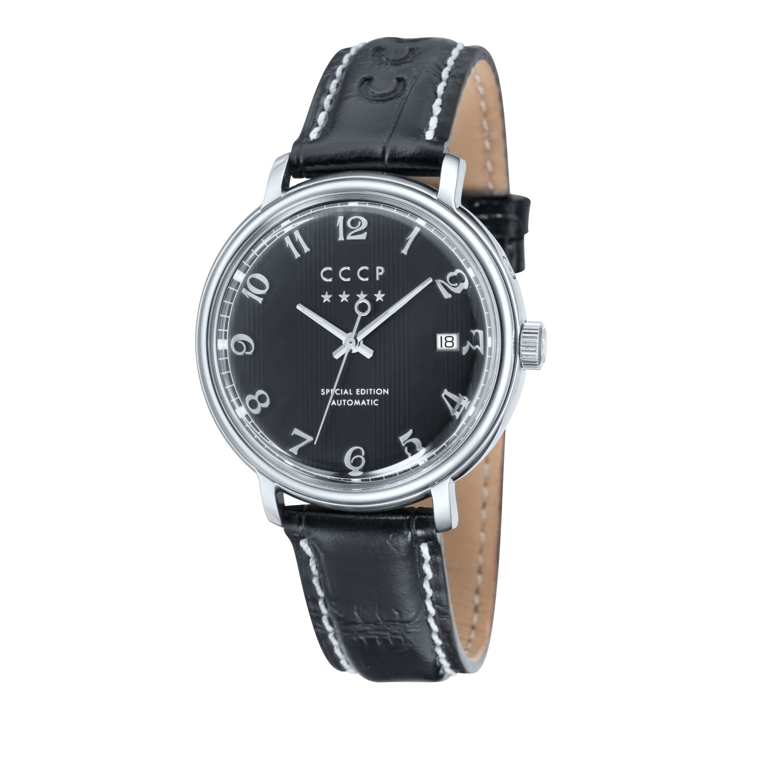 Cccp Men's Heritage CP-7021-01 Silver Leather Automatic Self Wind Dress Watch