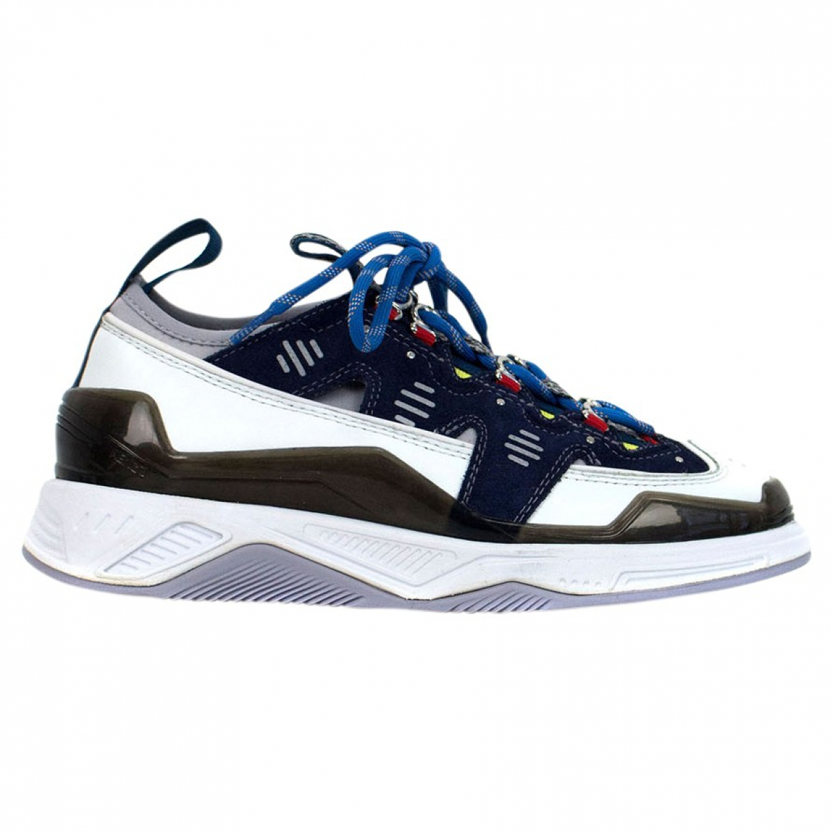 Kenzo \N Navy Leather Trainers for Women 35 EU