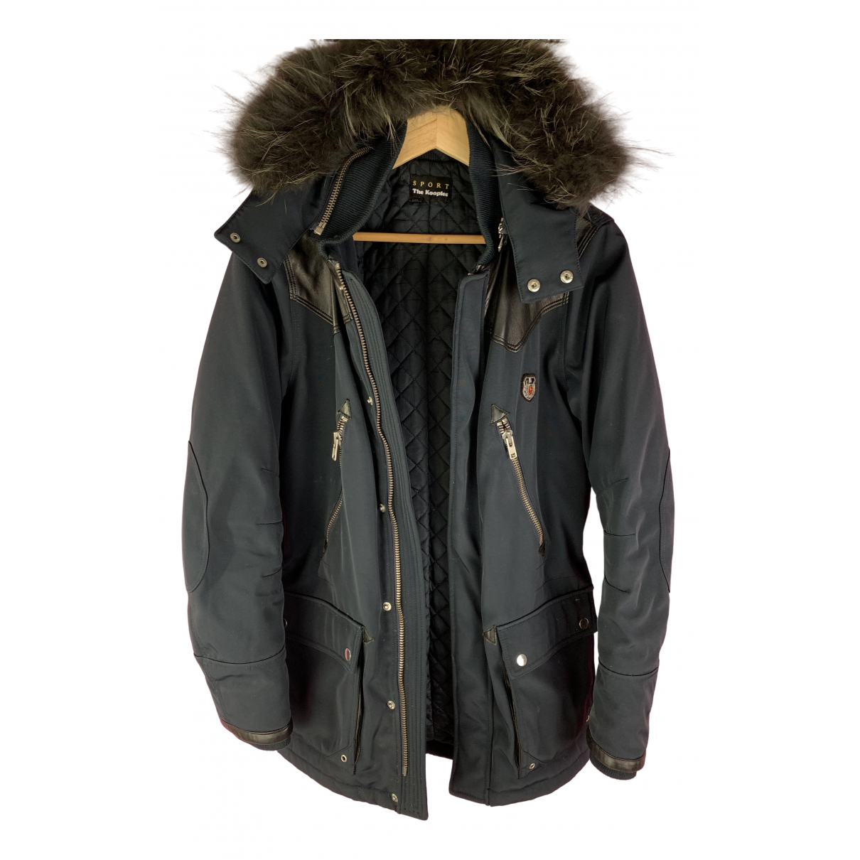 The Kooples N Navy Raccoon coat  for Men S International