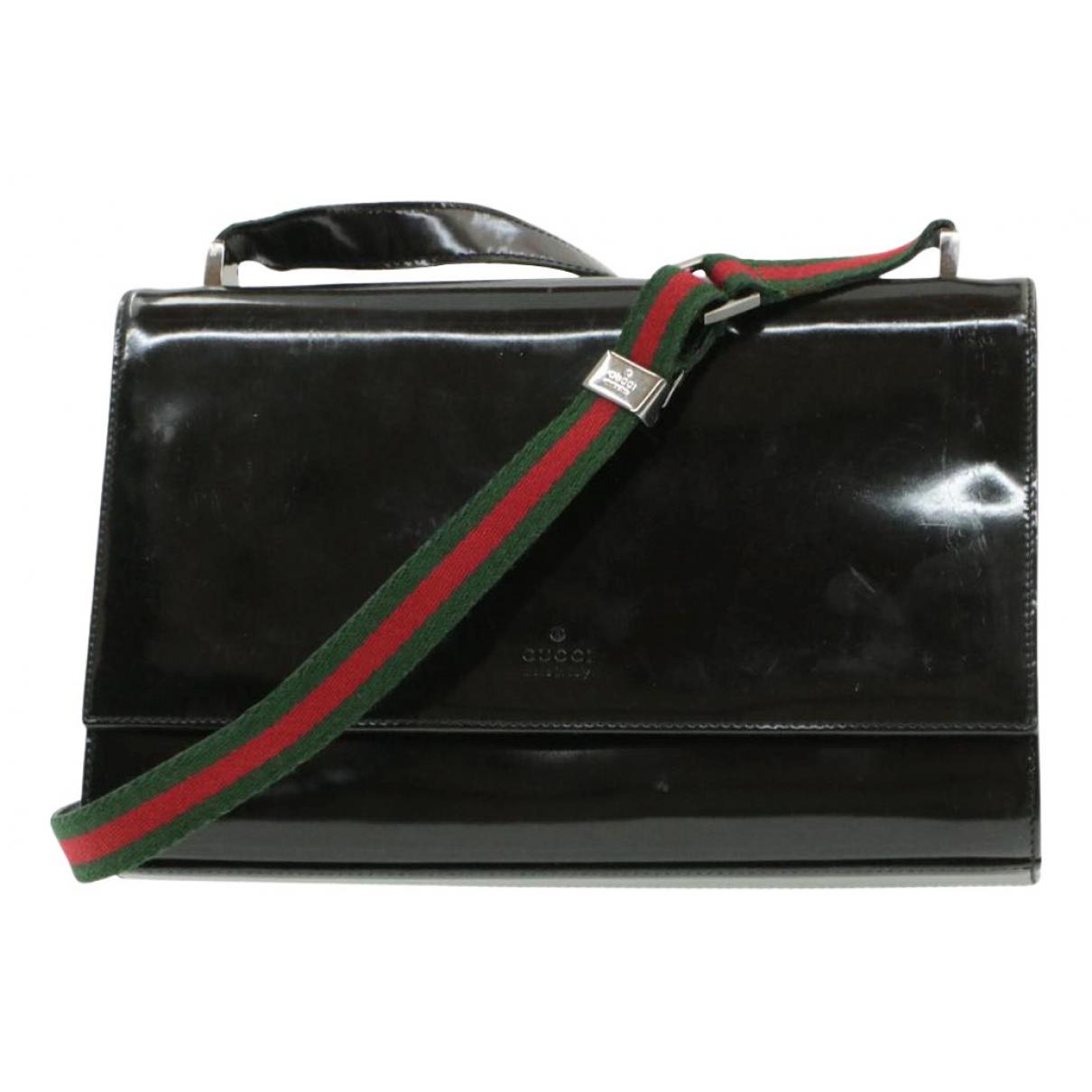 Gucci - Pochette   pour femme en cuir verni - noir