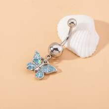 Bauchnabelpiercing mit Schmetterling Anhaenger