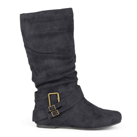 Journee Collection Womens Shelley Slouch Boots, 10 Medium, Black