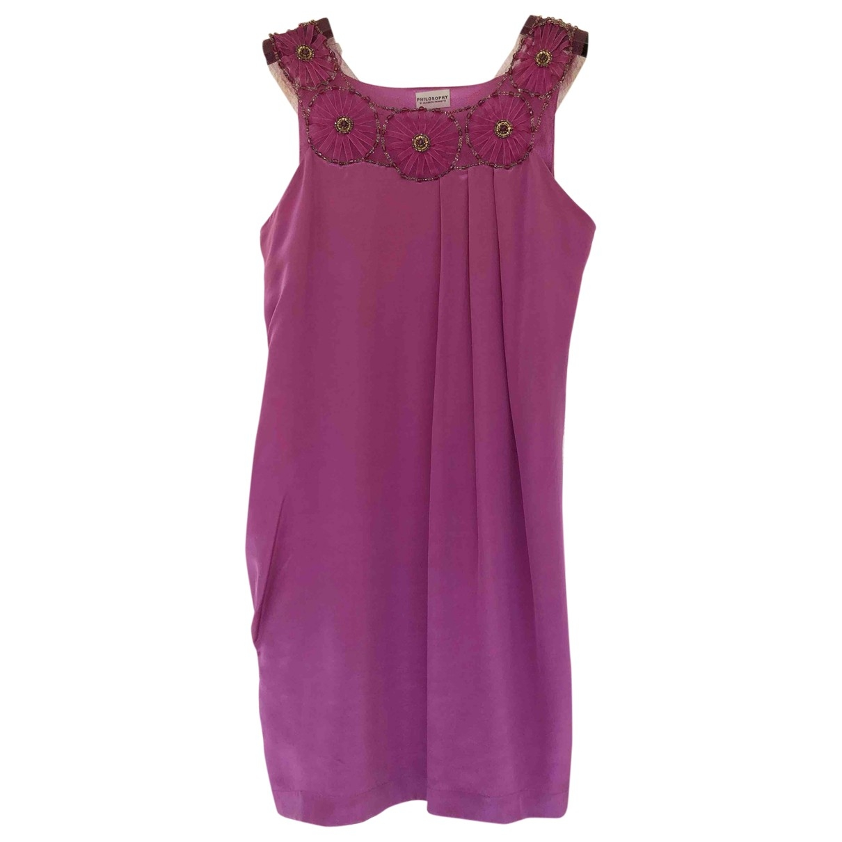 Philosophy Di Alberta Ferretti \N Purple Silk dress for Women 40 IT