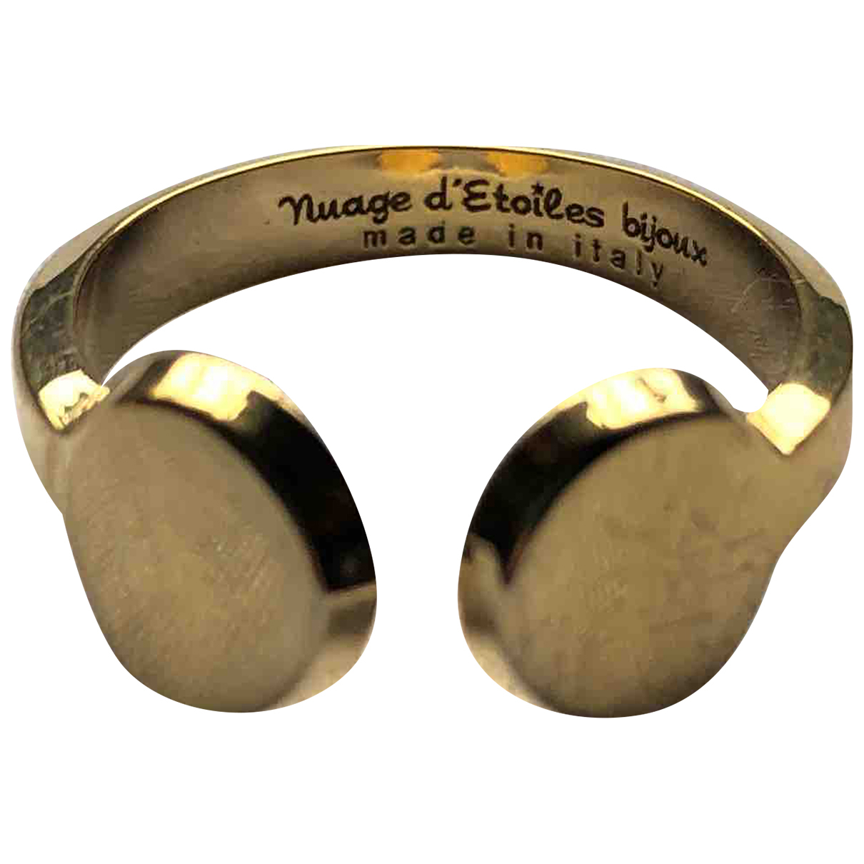 Non Signé / Unsigned N Gold Metal ring for Women 44 MM