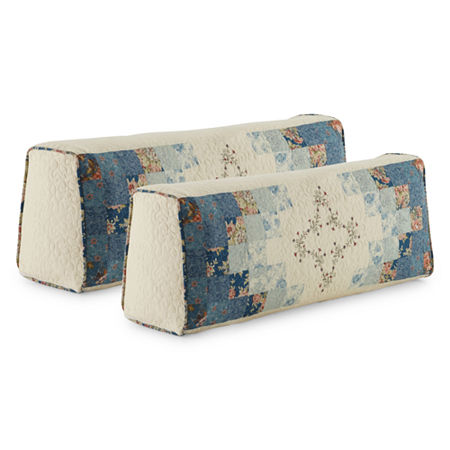 Home Expressions Cassandra Set of 2 Bolster Covers, One Size , Blue