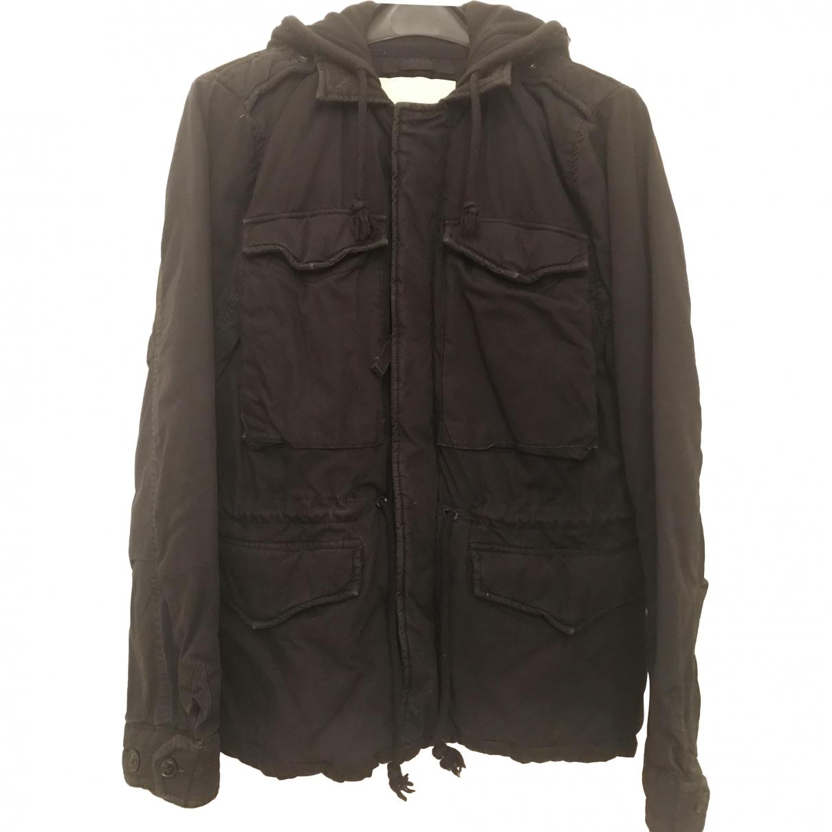 Ralph Lauren Denim & Supply - Manteau   pour homme en coton - noir