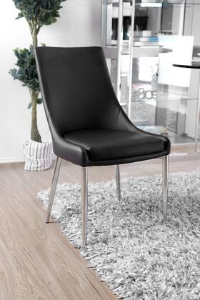 Lizzy Collection CM3384BK-SC-2PK Side Chair (Set of 2) in Silver