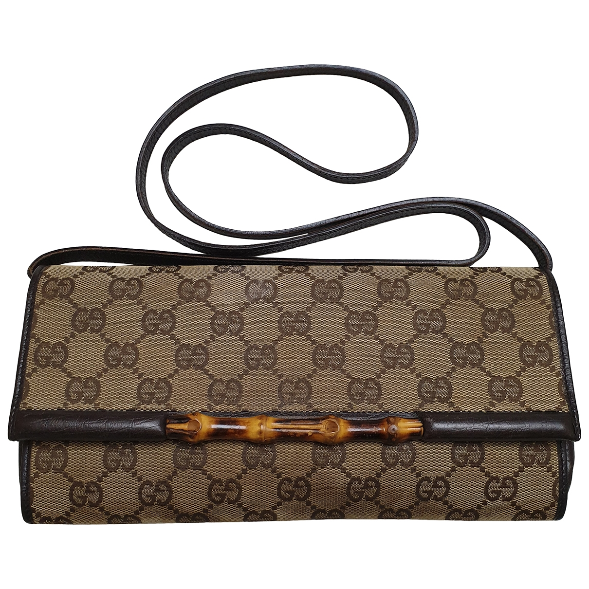 Gucci Bamboo Brown Cloth Clutch bag for Women \N