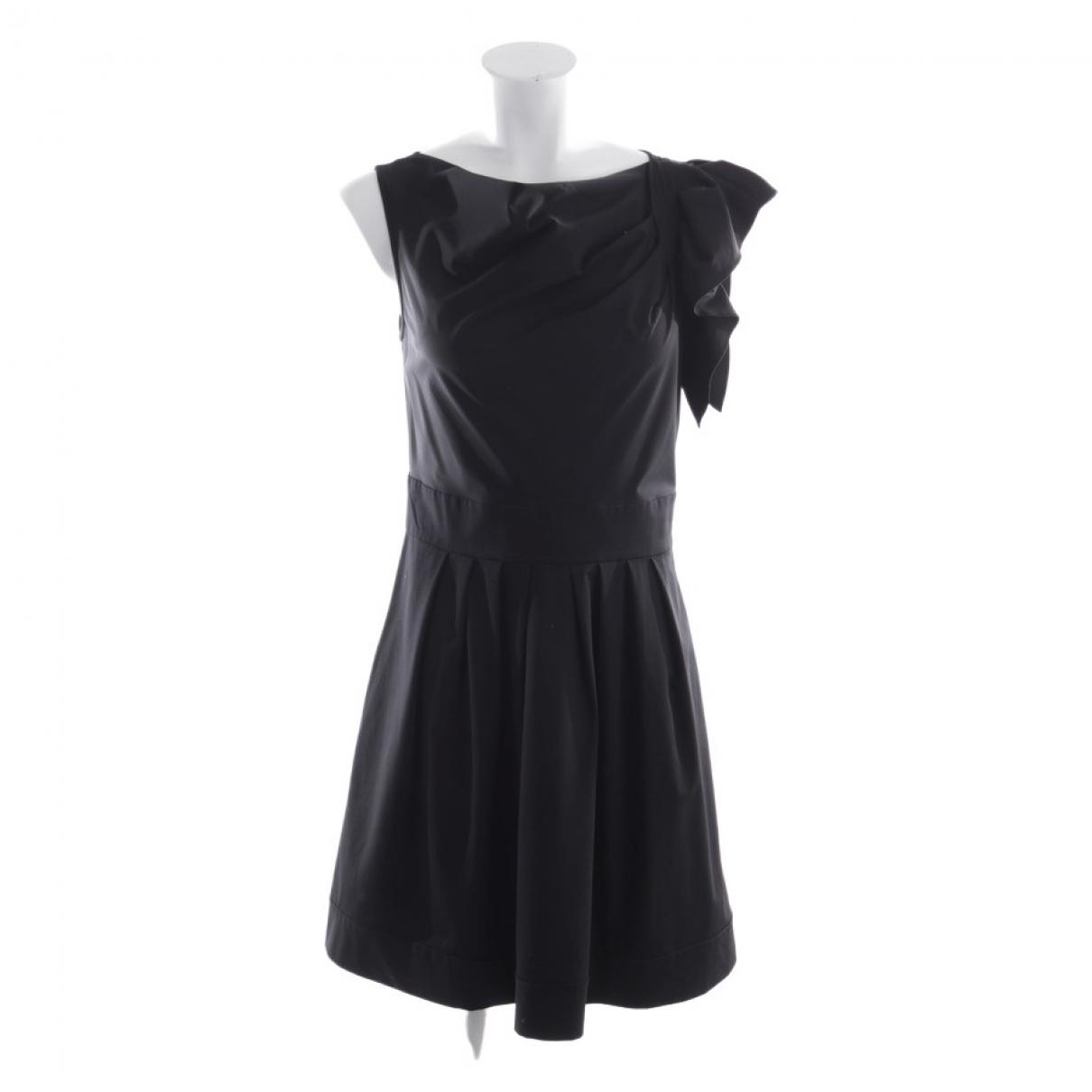 Diane Von Furstenberg \N Black Cotton dress for Women 38 FR