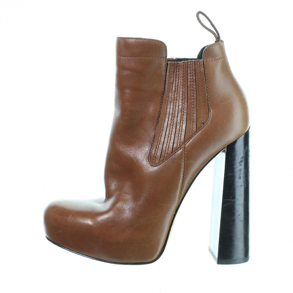 Alexander Wang - Boots   pour femme en cuir - marron