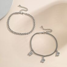 2pcs Butterfly Chain Anklet