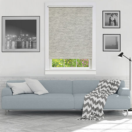 Jute Cordless Light-Filtering Roller Shade, One Size , Gray