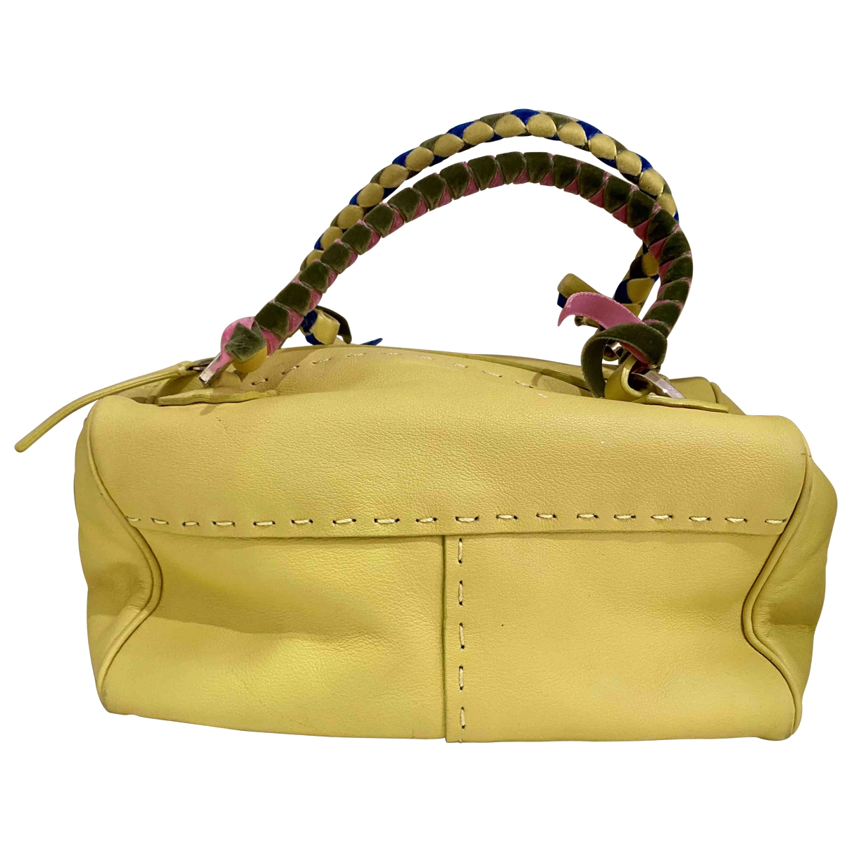 Malo \N Yellow Leather handbag for Women \N