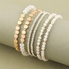 3 Stuecke Armband mit Perlen