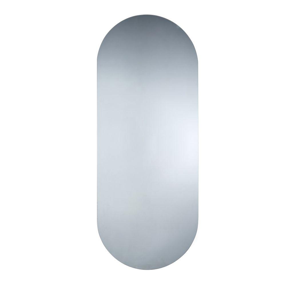 Leuchtspiegel aus grauem Rauchglas 60x150