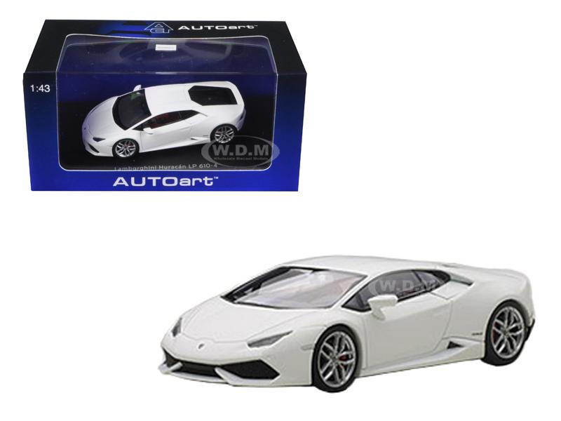Lamborghini Huracan LP610-4 Matt White / Bianco Canopus 1/43 Diecast Model Car  by Autoart