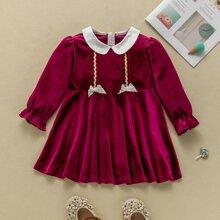 Vestidos bebe Bordado Monocolor Glamour