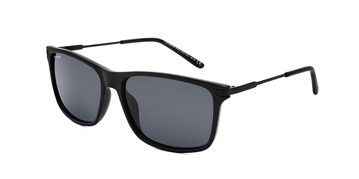 Polar PL 4000 Polarized 77 Men's Sunglasses Black Size 58