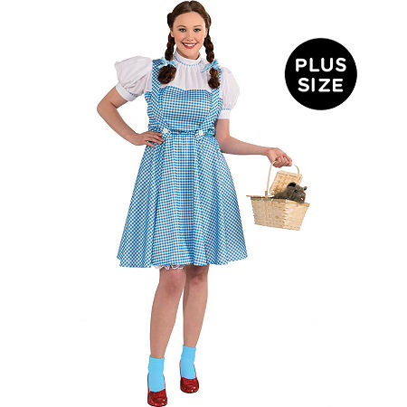 The Wizard Of Oz Dorothy Adult Plus Costume Womens Costume, X-large , Blue