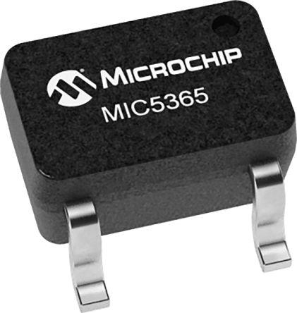 Microchip MIC5365-3.3YC5-TR, LDO Voltage Regulator Controller, 150mA, 3.3 V, ±3% 5-Pin, SC-75 (3000)