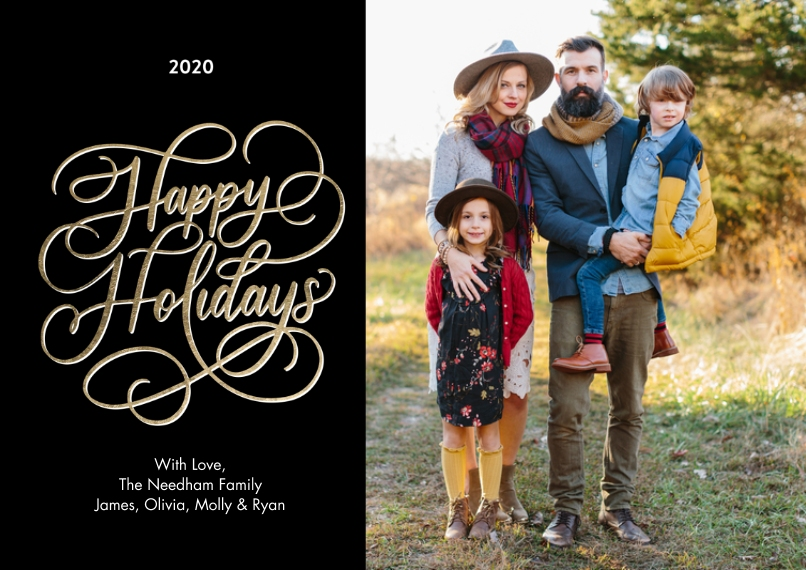 Holiday Photo Cards 5x7 Cards, Standard Cardstock 85lb, Card & Stationery -2020 Holiday Rustic Script by Tumbalina