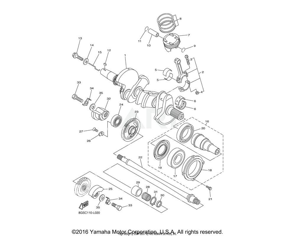 Yamaha OEM 8ES-11631-00-00 PISTON (STD)