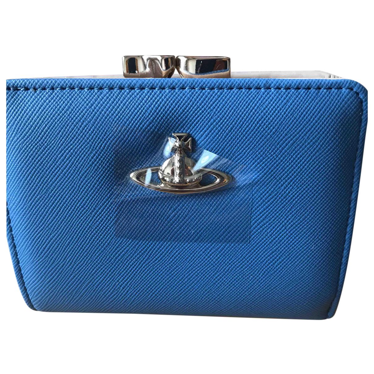 Vivienne Westwood N Blue Leather wallet for Women N