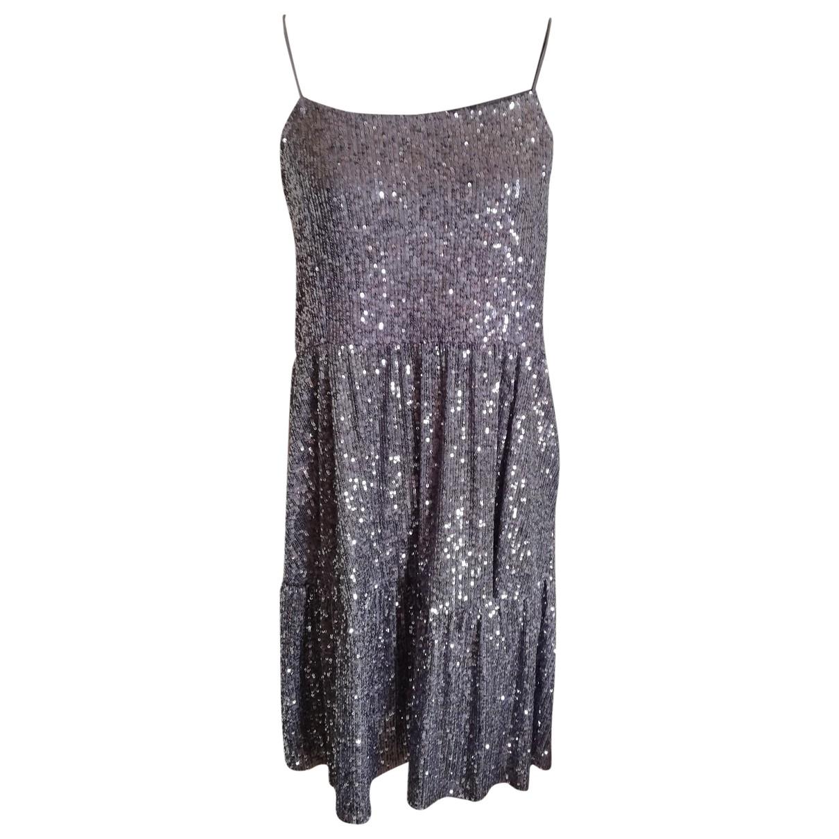 Zara \N Kleid in  Silber Mit Pailletten
