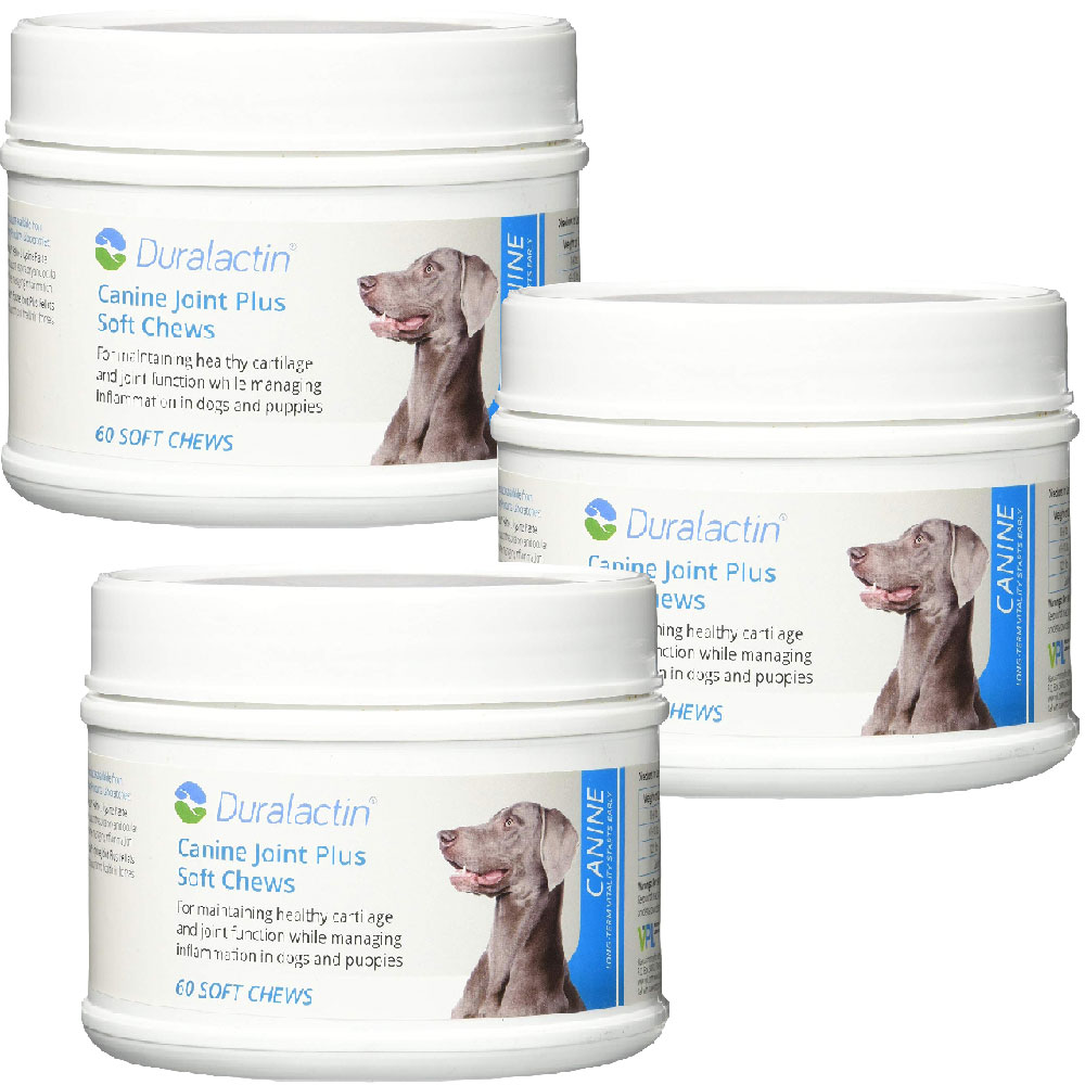 3-PACK Duralactin Canine Joint Plus Soft Chews (180 count)