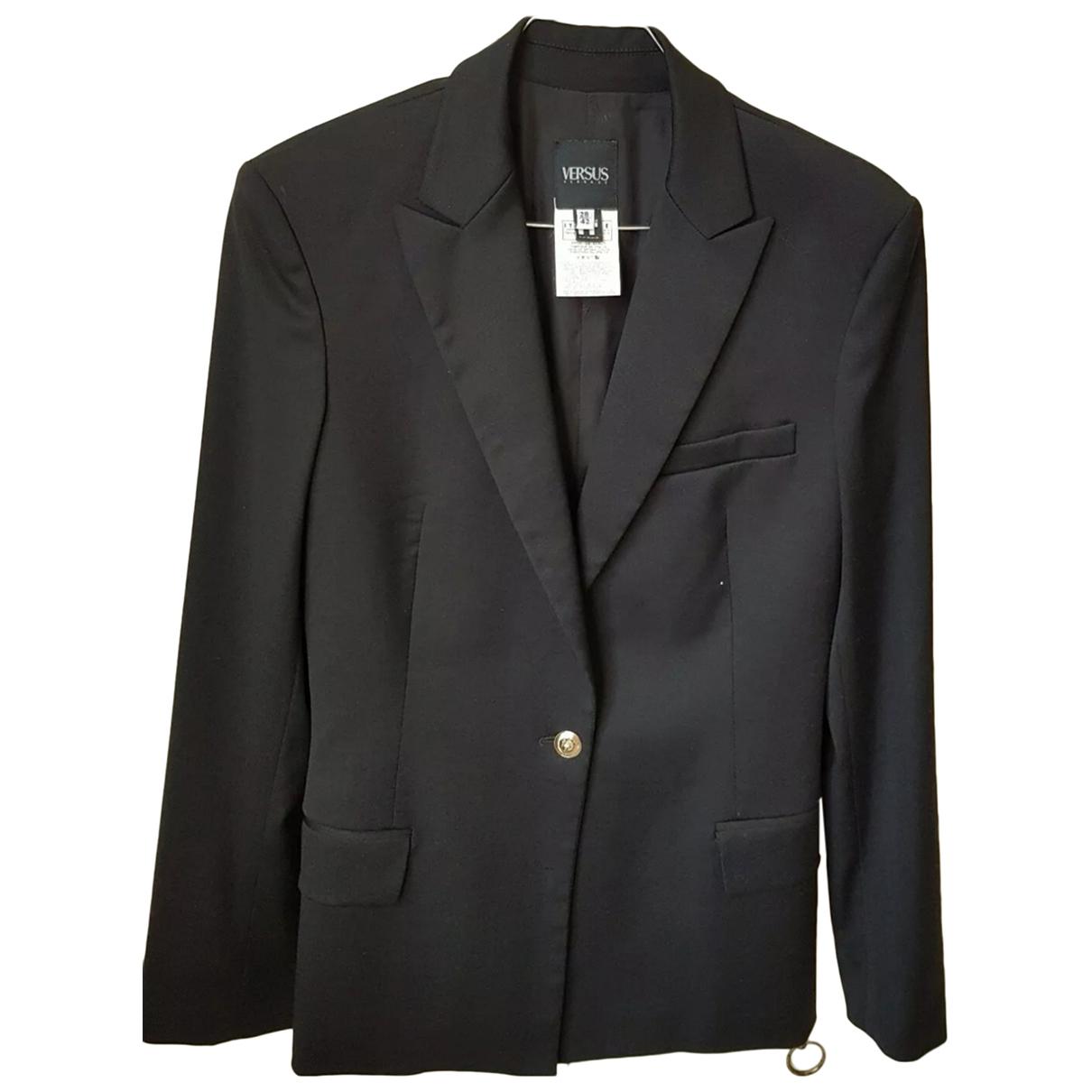 Versus \N Black Wool jacket for Women 42 IT