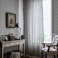 1 pieza cortina con estampado de triangulo