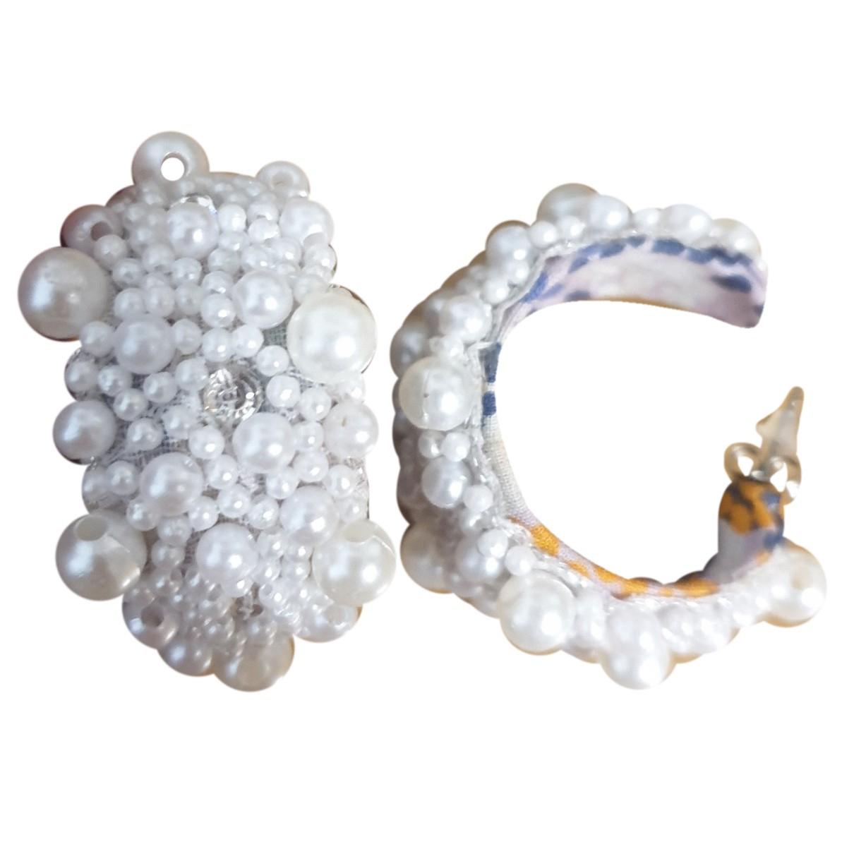 Deepa Gurnani N White Pearls Earrings for Women N