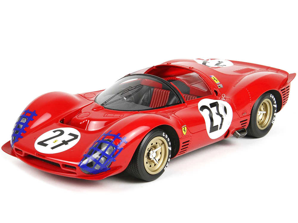 Ferrari 330 P3 Spider 27 Rodriguez - Ginther 24 Hours of Le Mans (1966) Limited Edition to 250 pieces Worldwide 1/18 Model Car by BBR