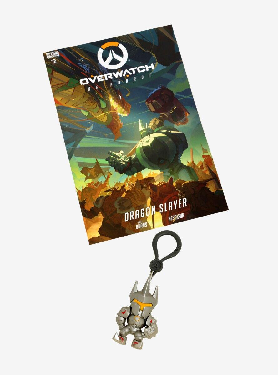 Overwatch Reinhardt Comic & Key Chain