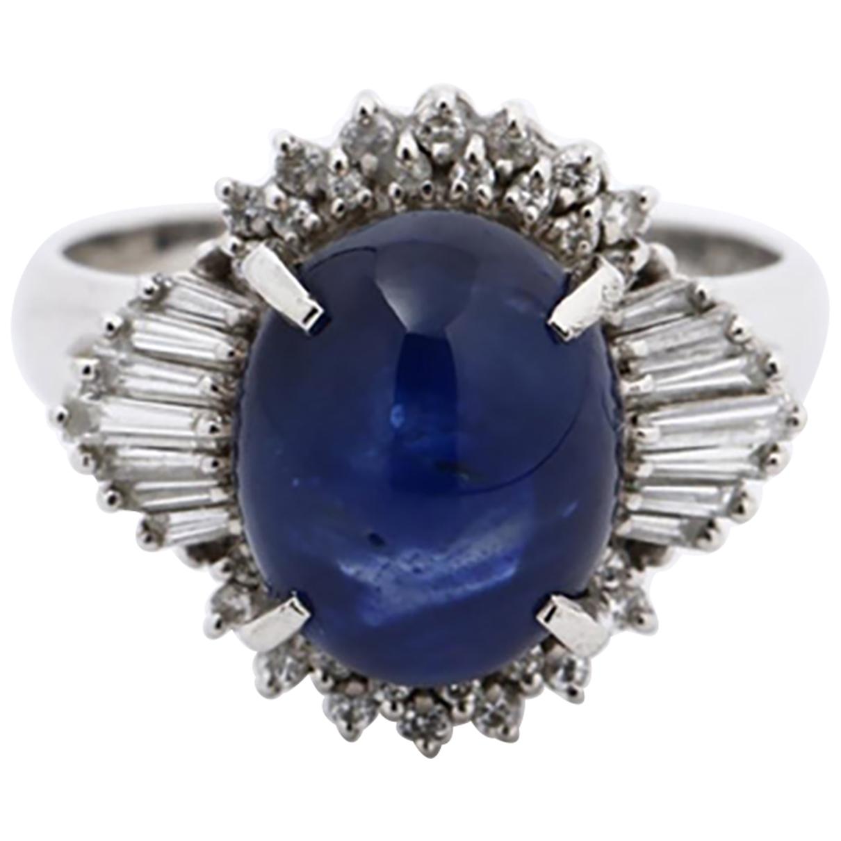 - Bague Saphir pour femme en platine - bleu