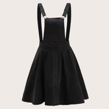 Denim Kleid mit Falten