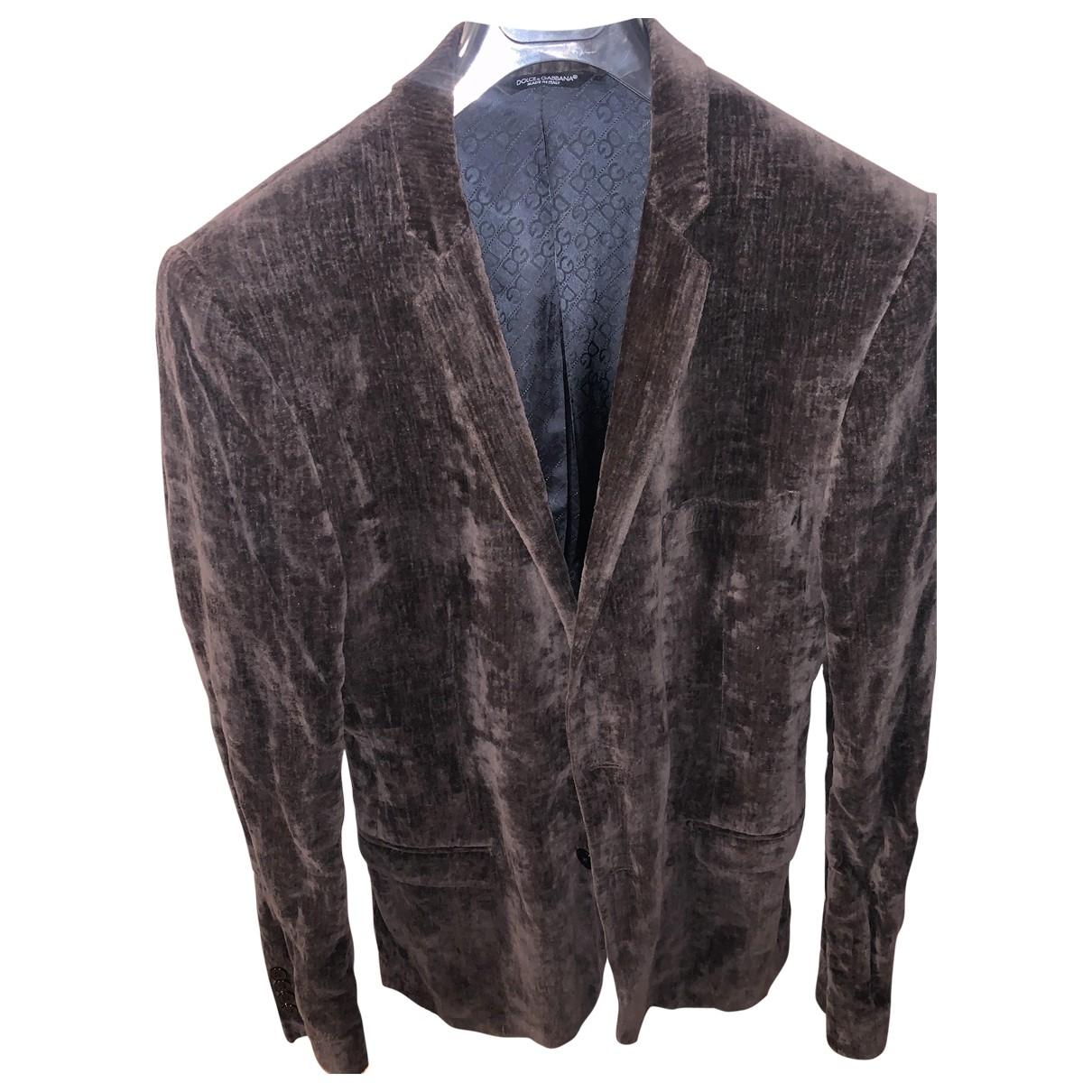 D&g \N Brown Velvet jacket  for Men S International