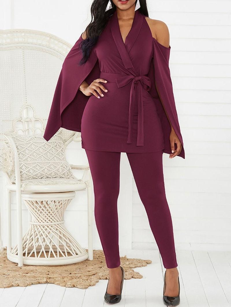 Ericdress Full Length Sexy Plain Slim Jumpsuit