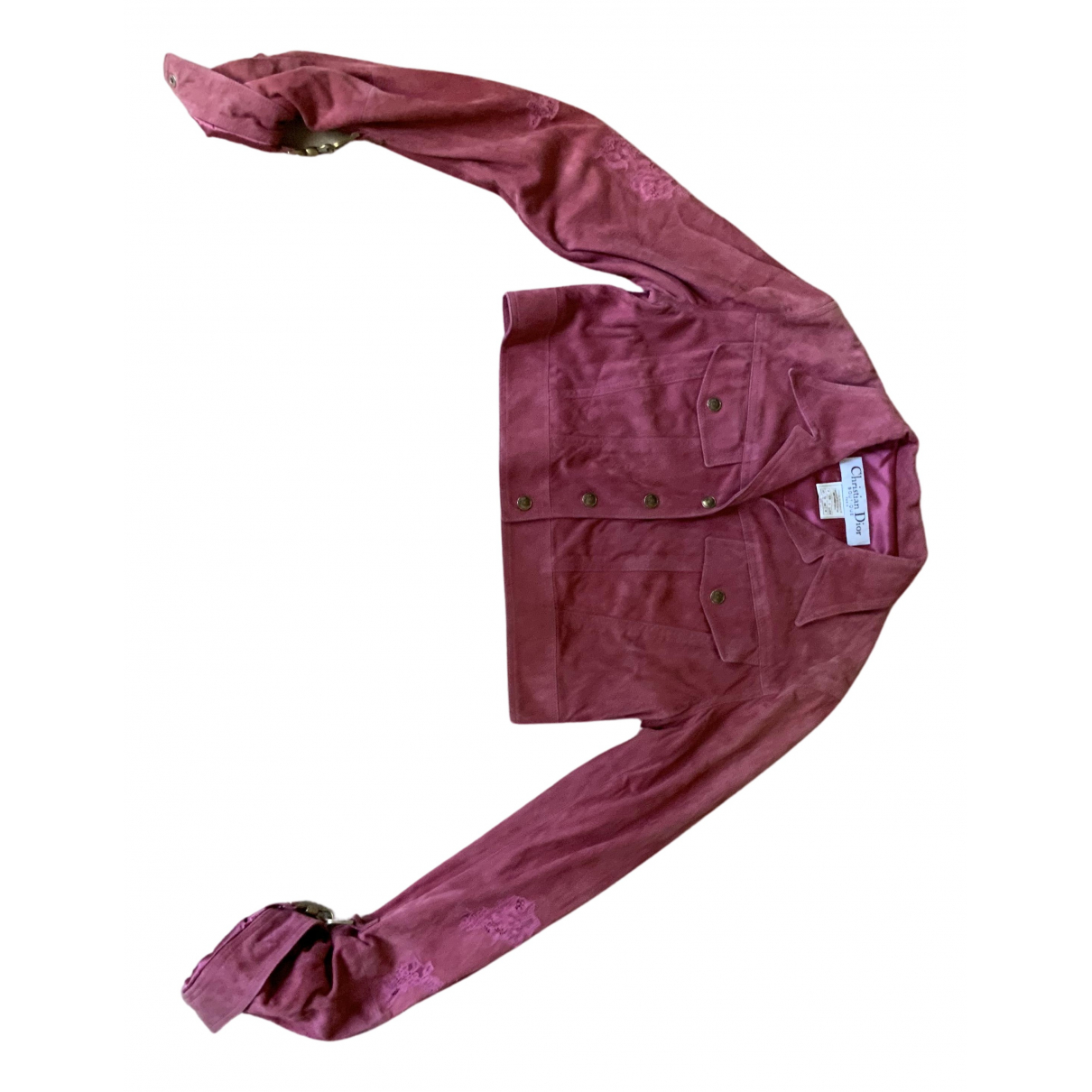 Dior N Pink Suede jacket for Women 40 FR