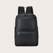 Maenner Minimalistischer Rucksack mit Taschen vorn