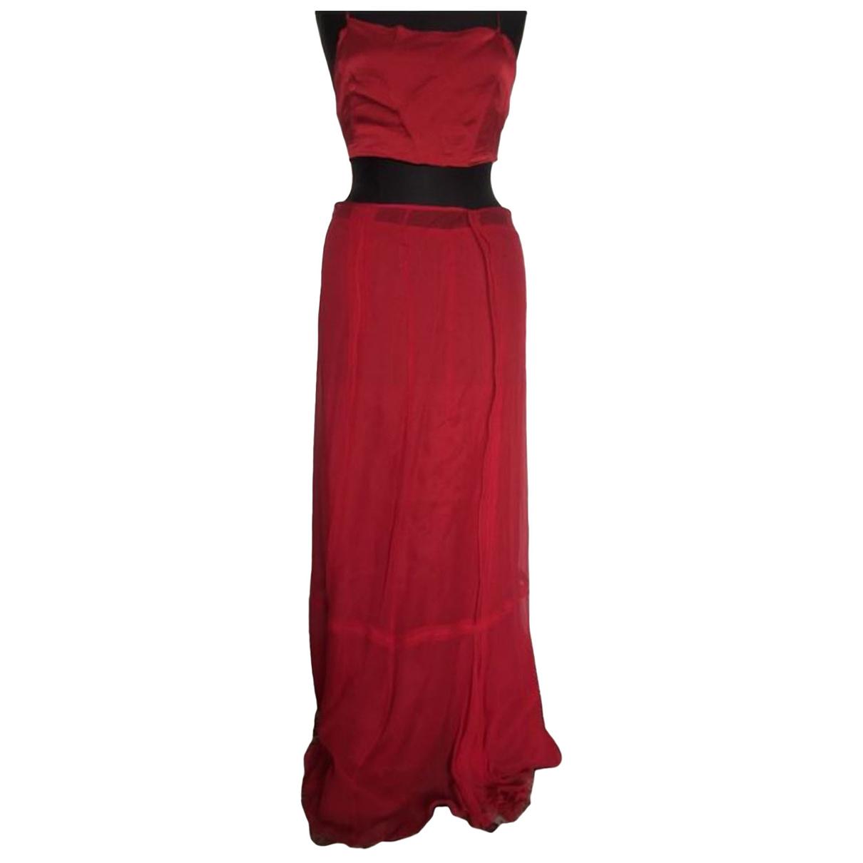Philosophy Di Alberta Ferretti \N Kleid in  Rot Seide
