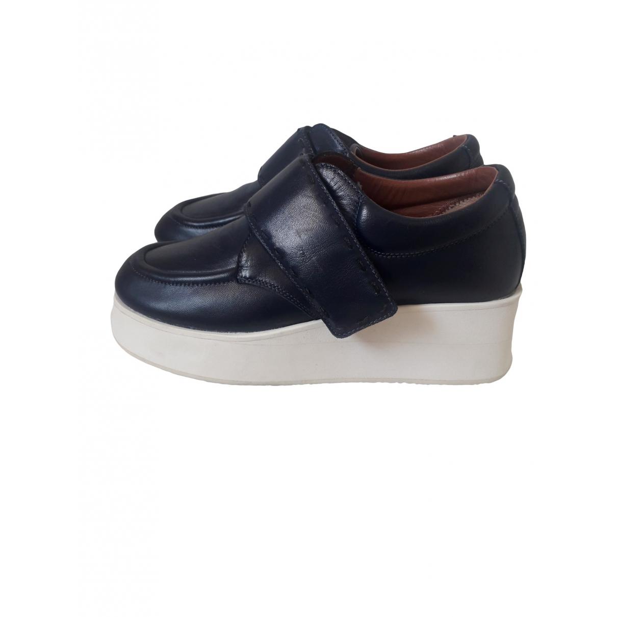 Sport Max - Boots   pour femme en cuir - bleu