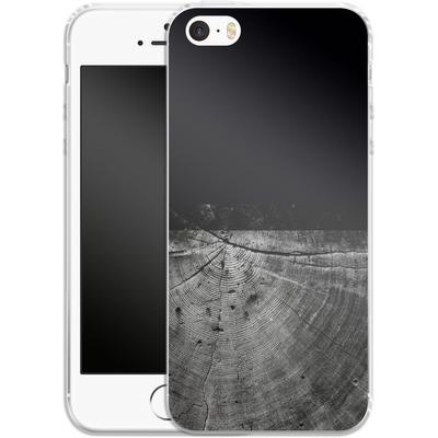 Apple iPhone 5 Silikon Handyhuelle - Wood Grain Slice von caseable Designs