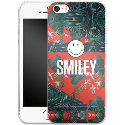 Apple iPhone SE Silikon Handyhuelle - Tropical Groove von Smiley®