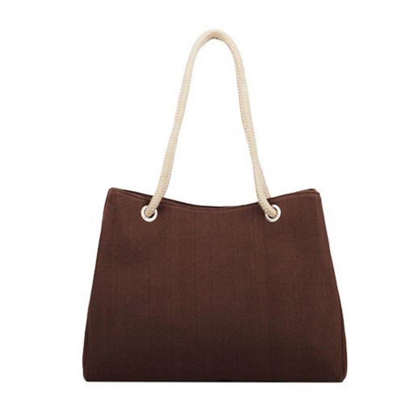 Ericdress Summer Cool Plain Canvas Square Soft Shoulder Bags