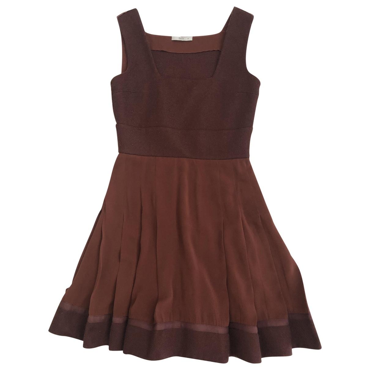 Prada \N Brown Wool dress for Women 42 IT